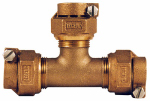 Legend Valve And Fitting 313-395NL Water Service Tee CTS PAK x PAK, 1-In.
