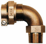 Legend Valve And Fitting 313-330NL Water Service Elbow, CTS PAK x MIP, 1-In. x 3/4-In.