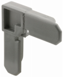 Prime Line Products PL 14258 3/4x7/16 Gray Corner