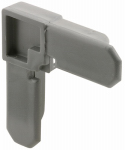 Prime Line Products PL 14272 3/4x3/8 Gray Corner