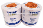 Tytan International PBT96170TONBP Baler Twine, Orange Poly, Two 4,800-Ft. Spools