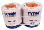 Tytan International PBT9130TONBP Baler Twine, Orange Poly, Two 4,500-Ft. Spools