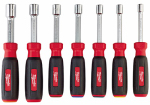 Milwaukee Electric or Electrical Tool 48-22-2507 SAE Nut Driver Set, Hollow Core, Magnetic, 7-Pc.
