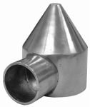 Midwest Air Technologies 328568C Chain Link Bullet Cap, One Way,  Aluminum, 2-3/8-In.