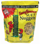C & S Products 06110 Wild Bird Food, Sunflower Suet Nuggets, 27-oz.