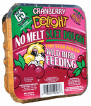 C & S Products 12566 Wild Bird Suet Dough Cake, Cranberry Delight, 11.75-oz.