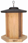 Natures Way Bird Products CWF14 Cedar Triple Chamber Bird Feeder