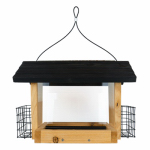 Natures Way Bird Products CWF19 Cedar Hopper Bird Feeder With Suet, 6-Qt.