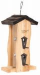 Natures Way Bird Products CWF5 Cedar Vertical Wave Bird Feeder