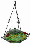 Natures Way Bird Products GHF2 Hummingbird Feeder, Green Speckled Glass