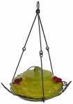 Natures Way Bird Products GHF4 Hummingbird Feeder, Yellow Swirl Glass