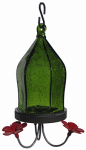 Natures Way Bird Products JHF2 Hummingbird Feeder, Green Crackled Glass