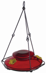 Natures Way Bird Products MHF1 Hummingbird Feeder, Modern Red Glass