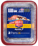 Ez Foil/Reynolds 00ZR98160000 EZ Foil Roaster/Baker Pans With Lids, Heavy-Duty, 12 x 9.25 x 2.5-In., 2-Pk.