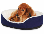 Hangzhou Tianyuan Pet Prod YF82094N-M WHT/BLK Small Round Dog Bed