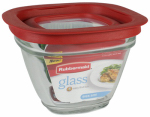 Rubbermaid 2856002 Food Storage Container, Glass, 1.5-Cup Square