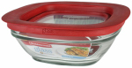 Rubbermaid 2856003 Food Storage Container, Glass, 2.5-Cup Square