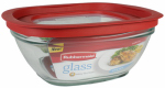 Rubbermaid 2856006 Food Storage Container, Glass, 8-Cup Square