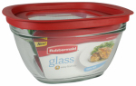 Rubbermaid 2856007 Food Storage Container, Glass, 11.5-Cup Square