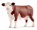 Schleich North America 13867 Schleich Hereford Cow Figurine, Ages 3 & Up