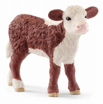 Schleich North America 13765 Toy Figure, Hereford Calf, Ages 3 & Up