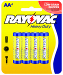 "Spectrum/Rayovac 5AA-4F Heavy Duty ""AA"" Batteries, 4-Pk."