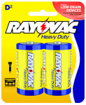 "Spectrum/Rayovac 6D-2BF Heavy Duty ""D"" Batteries, 2-Pk."