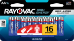 """Spectrum/Rayovac 815-16LTK """"AA"""" Alkaline Batteries, 16-Pk."""