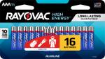 """Spectrum/Rayovac 824-16LTJ """"AAA"""" Alkaline Batteries, 16-Pk."""