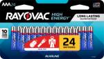 """Spectrum/Rayovac 824-24LTJ Alkaline Batteries, """"AAA"""", 24-Pk."""