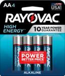"""Spectrum/Rayovac 815-4K Alkaline Batteries, """"AA"""", 4-Pk."""