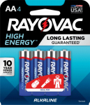 "Spectrum/Rayovac 815-4J Alkaline Batteries, ""AA"", 4-Pk."