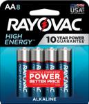"""Spectrum/Rayovac 815-8K Alkaline Batteries, """"AA"""", 8-Pk."""