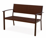 Letright Industrial 760.005.000 Wicker Bench, Aluminum, Brown, 46-In.