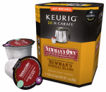 Keurig Green Mountain 114688 K-Cup Carafe Coffee, Newman's Own Organic Special Blend, 8-Ct.