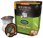 Keurig Green Mountain 114689 K-Cup Carafe Coffee, Green Mountain Breakfast Blend Decaf, 8-Ct.