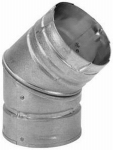 M&G Duravent 3PVL-E45R Pellet Vent Elbow, 45-Degree, 3-In.
