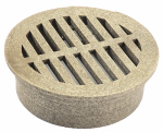 "Nds 13S 4"" Round Grate, Sand"
