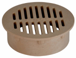 "Nds 60S 6"" Round Grate, Sand"