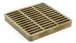 "Nds 999S 9"" x 9"" Square Grate, Sand"