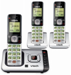 Vtech Communications CS6729-3 Cordless Phone Answering System, Caller ID/Call Waiting, 3-Handset