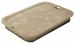 "Nds 113C SAND 14"" x 19"" Rectangular Valve Box Overlapping ICV Cover, Sand"