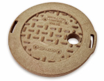 "Nds 107C SAND 6"" Round Overlapping Cover, Sand"