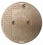 "Nds 111C SAND 10"" Round Valve Box Overlapping ICV Cover, Sand"