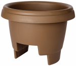 Bloem 477125-1001 Deck Rail Planter, Chocolate, 12-In.