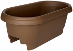 Bloem 477245-1001 Deck Rail Planter, Chocolate, 24-In.