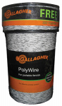 Gallagher North America G620300 Electric Fence Polywire, Ultra White, 1,320-Ft.