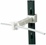 Gallagher North America G650134 Electric Fence T-Post Offset Insulator, White, 5-In., 20-Pk.