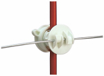 Gallagher North America G65514 Electric Fence Rod Insulator, Screw-On, White, 25-Pk.