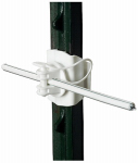 Gallagher North America G682134 Electric Fence T-Post Insulator, Universal, White, 20-Pk.